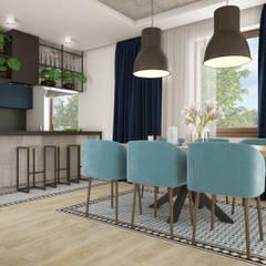 Wnętrza szeregówki w Warszawie: styl , w kategorii Jadalnia zaprojektowany przez Nevi Studio