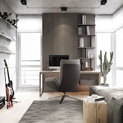 Study/office by U-Style design studio, Minimalist