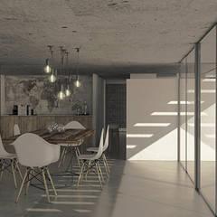 Casa LH Comedores escandinavos de MOD | Arquitectura Escandinavo Hormigón