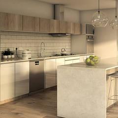 مطبخ ذو قطع مدمجة تنفيذ MOD | Arquitectura, إسكندينافي خشب Wood effect