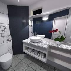 Diseño e implementación de baño de visitas: Baños de estilo  por Disarc Arquitectos,