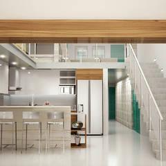 COCINAS: Cocinas pequeñas de estilo  por BSRG Arquitectura