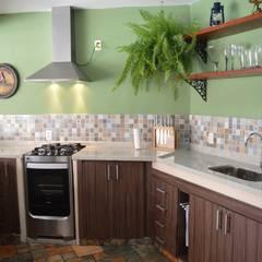 Projetos Realizados Cozinhas rústicas por Fabiana Pires Arquitetura Rústico