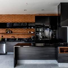Residencia Provenza : Muebles de cocinas de estilo  por Almadera, Moderno Derivados de madera Transparente