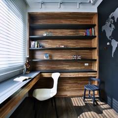 向你說早安:  書房/辦公室 by 安提阿設計有限公司