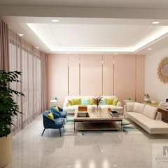 Modern living room by Matter Of Space Pvt. Ltd. Modern گلاس