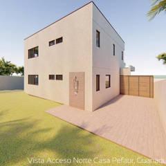 Diseño de Cabaña NAVARINO en el balneario Guanaqueros en Coquimbo: Cabañas de estilo  por Territorio Arquitectura y Construccion - La Serena, Moderno