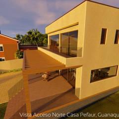 Bungalows de estilo  por Territorio Arquitectura y Construccion - La Serena,