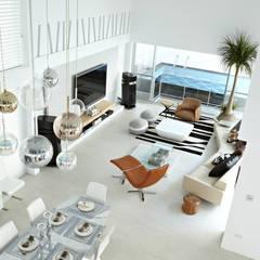 主客廳:  客廳 by 瑞嗎空間設計, 現代風