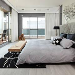 主臥:  臥室 by 瑞嗎空間設計, 現代風