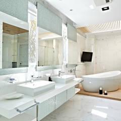 理想大地:  浴室 by 瑞嗎空間設計