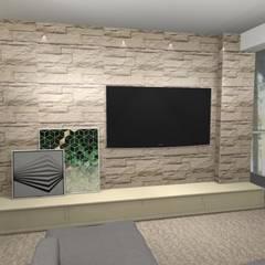 Casa S & E: Salas de estar  por Lorenna Nogueira,Campestre