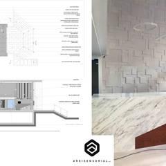 Lobby P7: Pasillos y vestíbulos de estilo  por Arkisensorial,