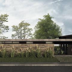 Casa AM: Casas unifamiliares de estilo  por MOD | Arquitectura,Moderno Madera Acabado en madera