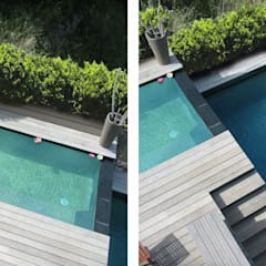 Infinity pool by Endémique Concept - Samuel Fricaud, Modern لکڑی Wood effect