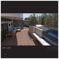 Piscinas de jardín de estilo  por INARQ Espacio