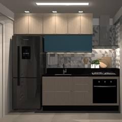 Cozinha: Armários e bancadas de cozinha  por Fabiane Carvalho Arquitetura e Interiores,Minimalista MDF