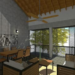 Vivienda Bifamiliar Jamundí, Valle del cauca: Casas multifamiliares de estilo  por Rojas Arquitectos, Moderno Concreto