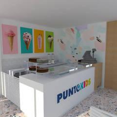 Heladería Punto Kids, Cali, Colombia: Comedores de estilo  por Rojas Arquitectos