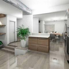 Casa Oficial: Cocinas pequeñas de estilo  por OMSA ARQUITECTOS