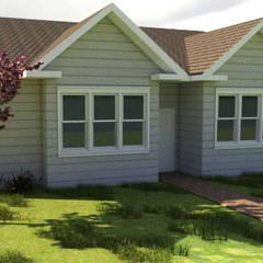 Diseño Vivienda 1 planta 196 M2: Casas unifamiliares de estilo  por CEC Espinoza y Canales LTDA,