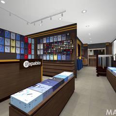 Salon z modą męską Repablo w M1 Marki Warszawa: styl , w kategorii Powierzchnie handlowe zaprojektowany przez MAXDESIGNER