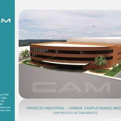 Lennox Campus Ramos Arizpe: Estudios y oficinas de estilo  por CAM ARQUITECTOS