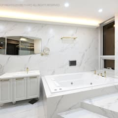 럭셔리 모던 컨셉 인테리어 : 빈스디자인의  욕실