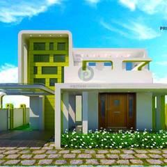 Projekty,  Korytarz, przedpokój zaprojektowane przez Prithvi Homes