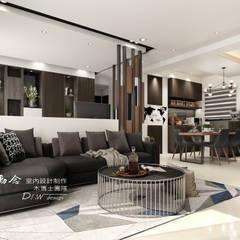 允將大有:  客廳 by 木博士團隊/動念室內設計制作