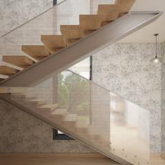 Дом на ул. Гагарина: Лестницы в . Автор – Анна