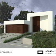 Casa RZ: Casas unifamiliares de estilo  por Donnelly + Estevez Arquitectos,Minimalista