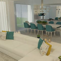 Projeto de Interiores: Moradia V3 Lisboa: Salas de estar  por Casactiva Interiores