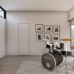 Casa en Quillota: Salas multimedias de estilo  por Sebastian Ginsberg Arquitecto,