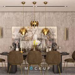 سبرينجز - مدينة الشروق:  غرفة السفرة تنفيذ  Mockup studio