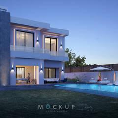 منزل عائلي كبير تنفيذ  Mockup studio