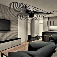 Living room by Wkwadrat Architekt Wnętrz Toruń,