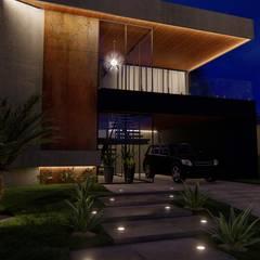 Residência P&V por Arquorum Arquitetura Moderno Madeira Efeito de madeira