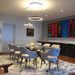 Proyecto Malecón Cisneros: Comedores de estilo  por ai+d diseño by Claudia Triveño, Moderno