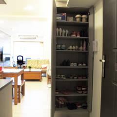 全室案例-新北市中和區:  走廊 & 玄關 by ISQ 質の木系統家具