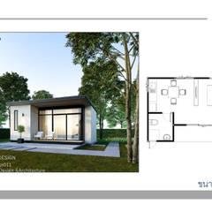 งานออกแบบบ้าน Knockdown10แบบพร้อมแปลน:  บ้านขนาดเล็ก by Kor Design&Architecture