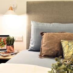 Of White Whites and Dew Gray:  Bedroom by Infini Home Concept Sdn. Bhd.