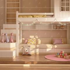 Luxury Villa Interiors in Bangalore :  Small bedroom by Fabmodula,Modern