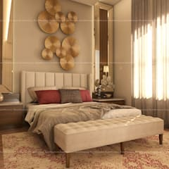 4BHK Villa with Complete Modern Fusion Interiors, Located in Bangalore:  Small bedroom by Fabmodula,Modern