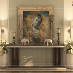 4BHK Villa with Complete Modern Fusion Interiors, Located in Bangalore:  Corridor & hallway by Fabmodula,