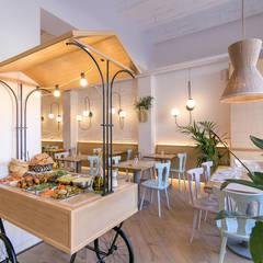 Projekty,  Gastronomia zaprojektowane przez Piedra Papel Tijera Interiorismo