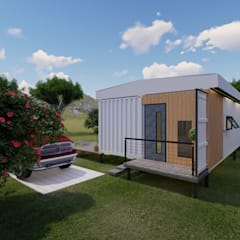 Prefabricated home by Cemile Ozkan Kayacik Mimarlik Ofisi, Industrial لکڑی پلاسٹک جامع