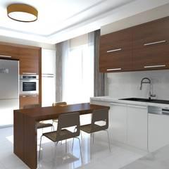 Asya Yapı İçmimarlık – Ankara Batıkent - müstakil konut:  tarz Ankastre mutfaklar