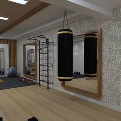 Gimnasios en casa de estilo  por Asya Yapı İçmimarlık, Minimalista