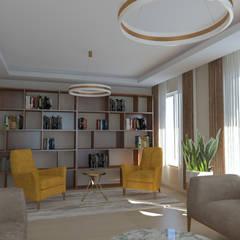 Asya Yapı İçmimarlık – Ankara Batıkent - müstakil konut:  tarz Oturma Odası
